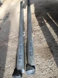 3m aluminium pipe carriers