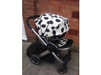 Original used oyster pushchair with buggyboard
