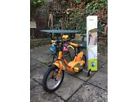 """Kid bike 14"""" with removable stabilising wheels"""