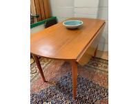 Mid century retro drop leaf dining table