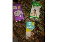 Size 3 nappies three large packs inuding pampers
