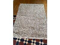 Pebbledash wool rug
