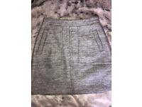New look grey thick wool skirt
