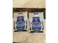 2 Everton cards 2 Southhampton cards.(£5)