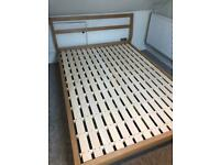 Muji Ash double bed frame NOW SOLD