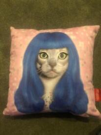 Katy perry cat cushion