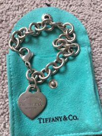 Authentic Tiffany & Co bracelet, necklace, earring & necklace set