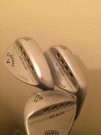 Callaway Wedges MD3 Milled. 50,54&58 degrees of loft.