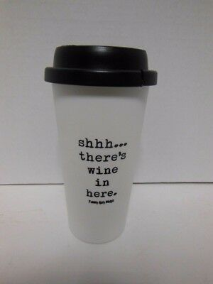 Funny Guy Mugs Shhh There's Wine In Here Travel Tumbler , White, 16-Oz FOR PART