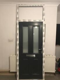 Anthracite Grey Solidor Ludlow Range solid timber core UPVC composite door
