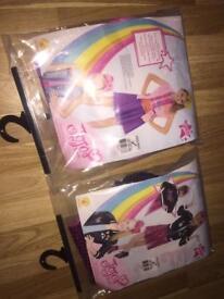 Jojo siwa dress up costumes x2 brand new with bows
