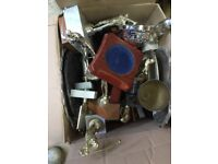 Box old golf trophy bits and pieces for renovation or craft work CR5