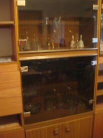 Attractive Four Door Smoked Glass Display Cabinet