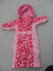 kids pink winter / ski-suit