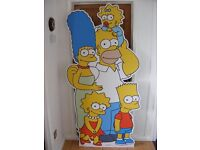 Full Size Free Standing Cardboard Cut-Out Of The Simpsons Family