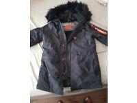 Superdry Blue SD-3 Parka Jacket Size: Medium / M50000YPF1 /220965 / MRSP 120.00