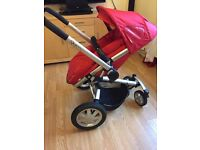 Quinny buzz with+red seat and maxi cosi car seat ( condition : used )
