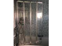 Full bath set in rad,shower,screen