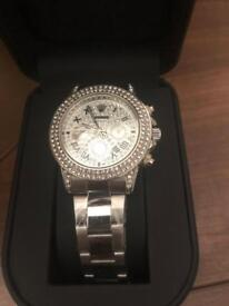 Fully iced rare watch silver