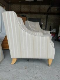 Two comfortable Laura Ashley armchairs