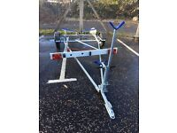 Boat Road trailer Trident Vario 2 with Mast support & Spare Wheel 6 months old