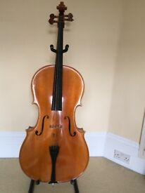 Stentor-Arcadia Cello 4/4, bow and hard case. Collection only