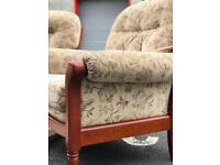 Cintique Suite/3 Seater Sofa and 2 Chairs (@07752751518)