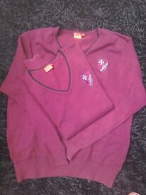 2 St Teilos jumpers, boys Medium