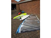 Wind surfing full set up