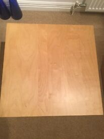 Square coffee tables beech effect £4