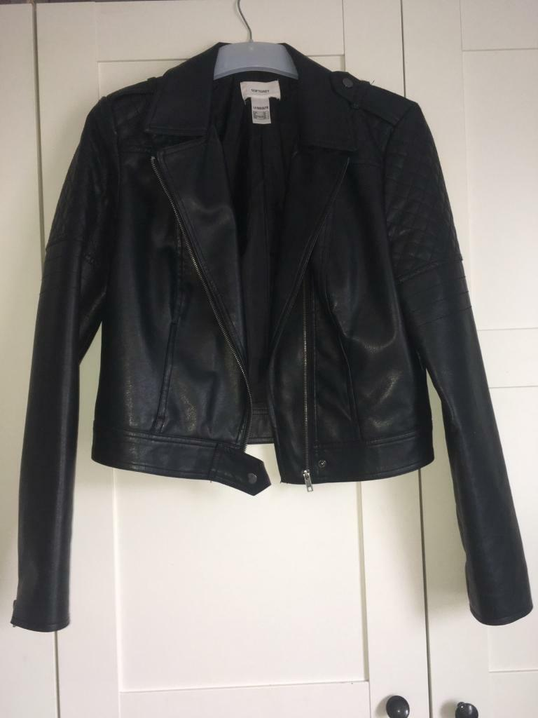 Black leather jacket Size 12in Kirkby in Ashfield, NottinghamshireGumtree - La Redoute black leather jacket size 12.Only been worn a few time so is in excellent condition