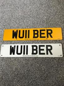 Private number plate - WU11 BER