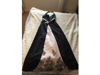 Black embroidered 60's style gown
