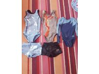 gym leotards( 3x ) & shorts (2x) 4-6 years