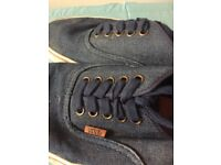 Men's Navy Blue Vans - Size 8