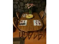 Kitchen table and chairs solid wood