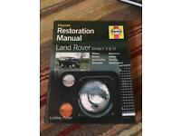 Haynes Land Rover Restoration Manual series 1, 2 & 3