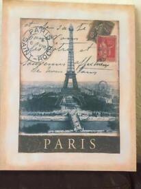 Paris picture canvas