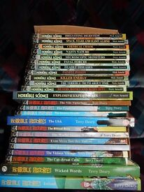 12 Horrible Science books + 12 Horrible Histories books - COLLECTION ONLY
