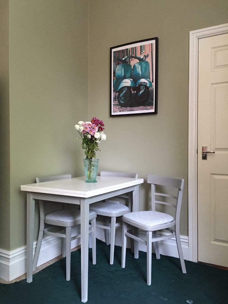 Upcycled Table & 4 chairs - Annie Sloan