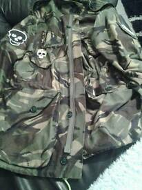LADIES PEACE LOGO ARMY BOUTIQUE ONE OFF VINTAGE JACKET