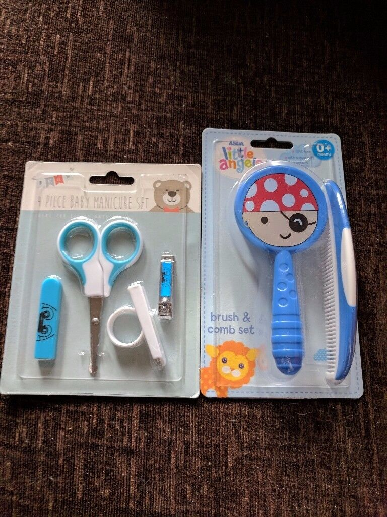 Brush, Comb and Manicure Set
