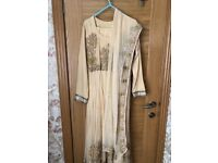 Golden embroidered party dress