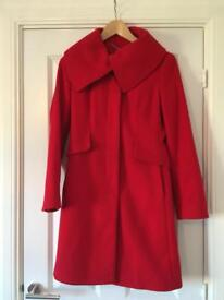Size 8 tailored fit red Debenhams jacket perfect condition