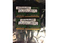 laptop memory 4gb each ddr3 12800s (x2)
