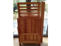 Mothercare Cotbed - solid pine, quality item, used and in good condition