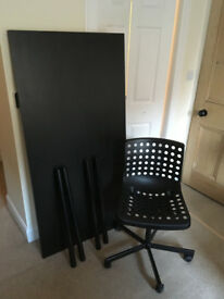IKEA desk & office chair - in good condition and well cared for - grab a bargain!
