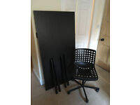 IKEA desk and office chair - very good condition and well cared for - grab a bargain!