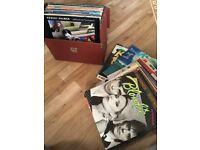 Box of vinyl LPs