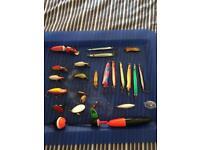 Fishing lures and bag